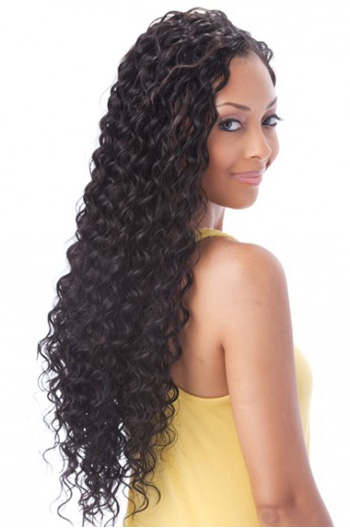 18 Inch Deep Wave Brazilian Virgin Hair Full Lace Wigs