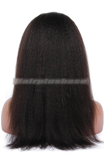 14 Inch Italian Yaki Brazilian Virgin Hair Full Lace Wigs