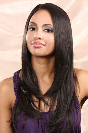 18 Inch Light Yaki Brazilian Virgin Hair Full Lace Wigs