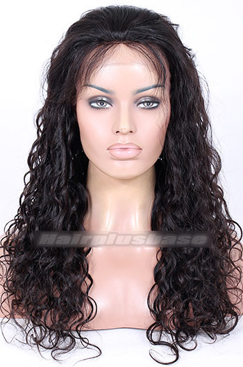 20 Inch Loose Curl Brazilian Virgin Hair Full Lace Wigs