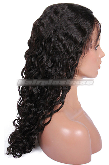 Peruvian Curl Style Brazilian Virgin Hair Full Lace Wigs