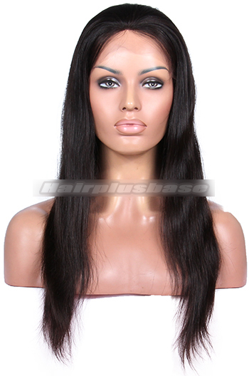 18 Inch Silky Straight Brazilian Virgin Hair Full Lace Wigs