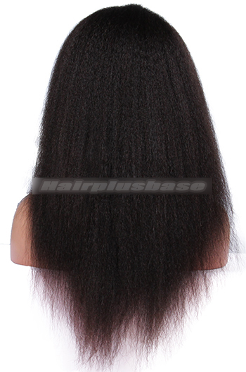 Kinky Straight Brazilian Virgin Hair Glueless Full Lace Wigs