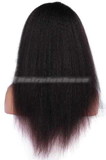 Kinky Straight Brazilian Virgin Hair Glueless Full Lace Wigs