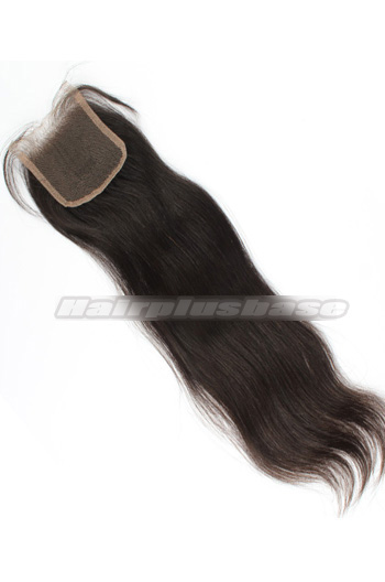 Silky Straight Brazilian Virgin Hair Lace Closure 4*4 Inches Bleached Knots