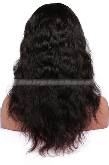 Natural Wave Brazilian Virgin Hair Glueless Full Lace Wigs