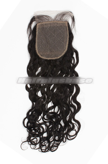 Loose Curl Brazilian Virgin Hair Silk Base Closure 4*4 Inches