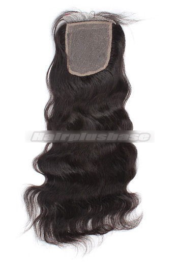 Natural Wave Brazilian Virgin Hair Silk Base Closure 4*4 Inches