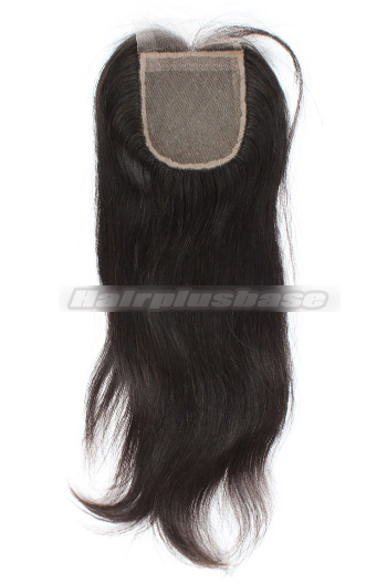 Silky Straight Brazilian Virgin Hair Silk Base Closure 4*4 Inch