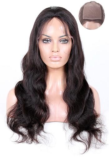 Body Wave Brazilian Virgin Hair Silk Top Full Lace Wigs