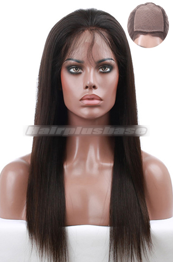 Silky Straight Brazilian Virgin Hair Silk Top Full Lace Wigs