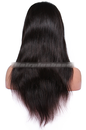 Silky Straight Brazilian Virgin Hair Glueless Full Lace Wigs