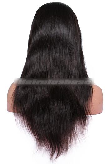 Silky Straight Brazilian Virgin Hair Glueless Full Lace Wigs