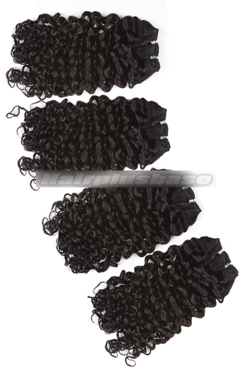 10-24 Inch Candy Curl 8A Virgin Hair Weave 4 Bundles Deal