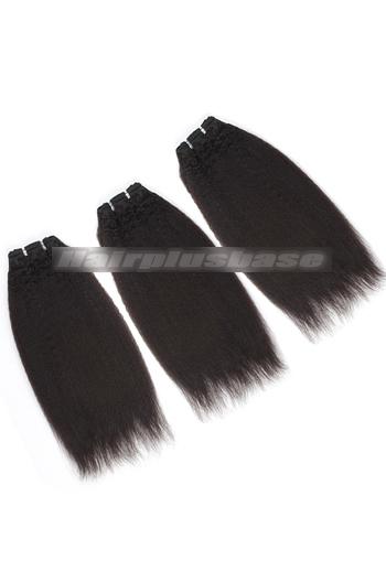 10-24 Inch Luxury Italian Yaki Brazilian Virgin Hair Weave 3 Bundles Deal