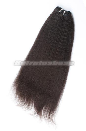 Brazilian Virgin Hair Weave kinky straight 4ozs thick Bundles