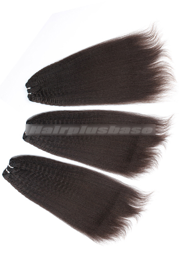 10-24 Inch Luxury Kinky Straight Brazilian Virgin Hair Weave 3 Bundles Deal