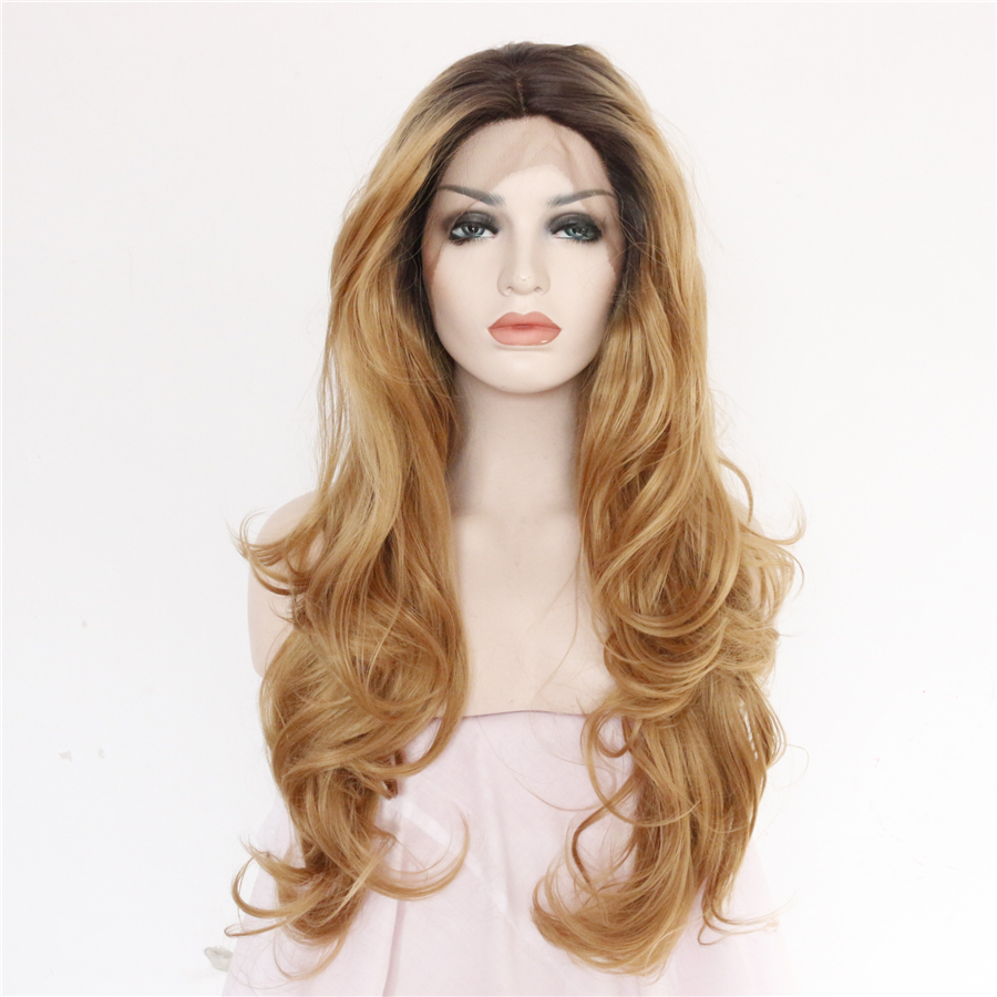 Brown to Blonde Ombre Synthetic Lace Front Wig For Women