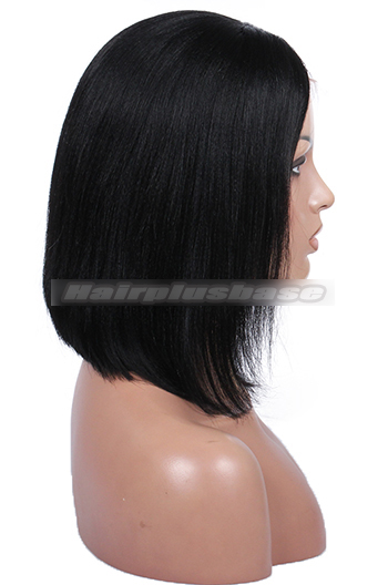 Charming Short Bob Cut Human Hair Glueless Lace Wigs
