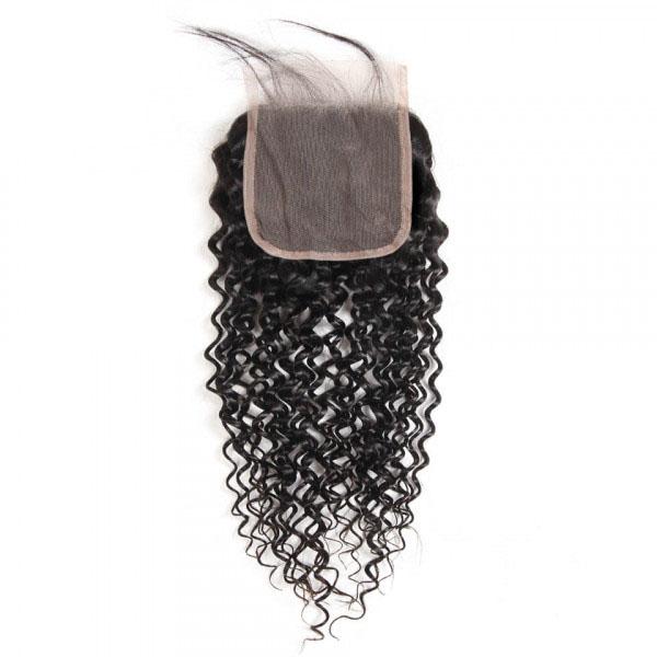 Cheap Curly Human Hair 5x5 Lace Closure Unprocessed Virgin Hair 6