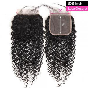 Cheap Curly Human Hair 5x5 Lace Closure Unprocessed Virgin Hair