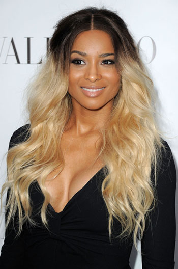 Ciara Casual Long Wavy Dark To Light Ombre Human Hair Lace Front Wigs{Custom Wig Production Time 30 working days}