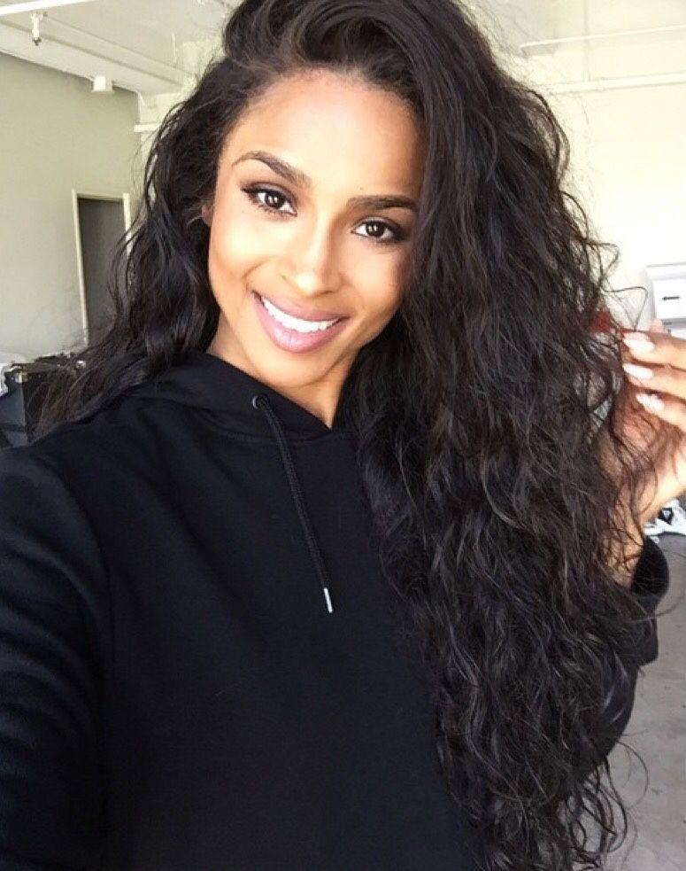 Ciara Style Loose Curl Glueless Lace Front Wigs Brazilian Virgin Human Hair 0