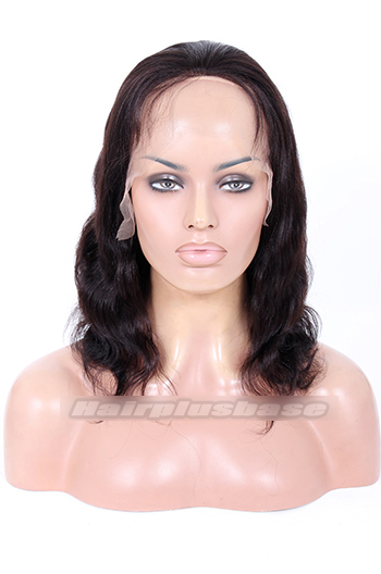 10 Inch #1B Yaki Body Wave Indian Remy Hair Clearance Glueless Full Lace Wig