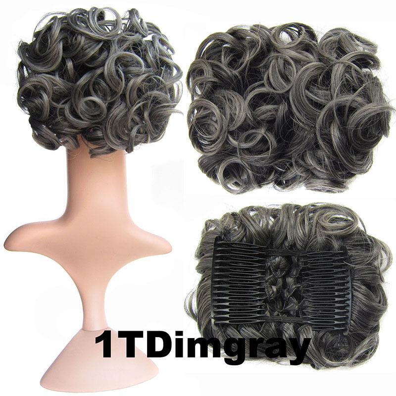 Clip In Hair Bun Chignon Piece Updo Cover Hair Extension Body Wavy For Women 10