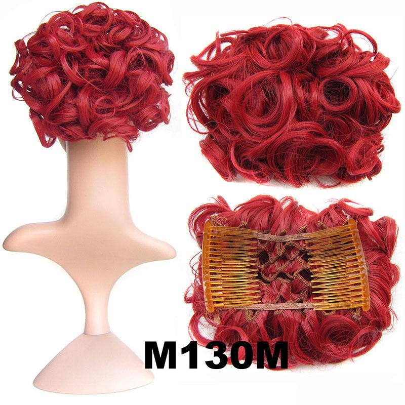Clip In Hair Bun Chignon Piece Updo Cover Hair Extension Body Wavy For Women 11