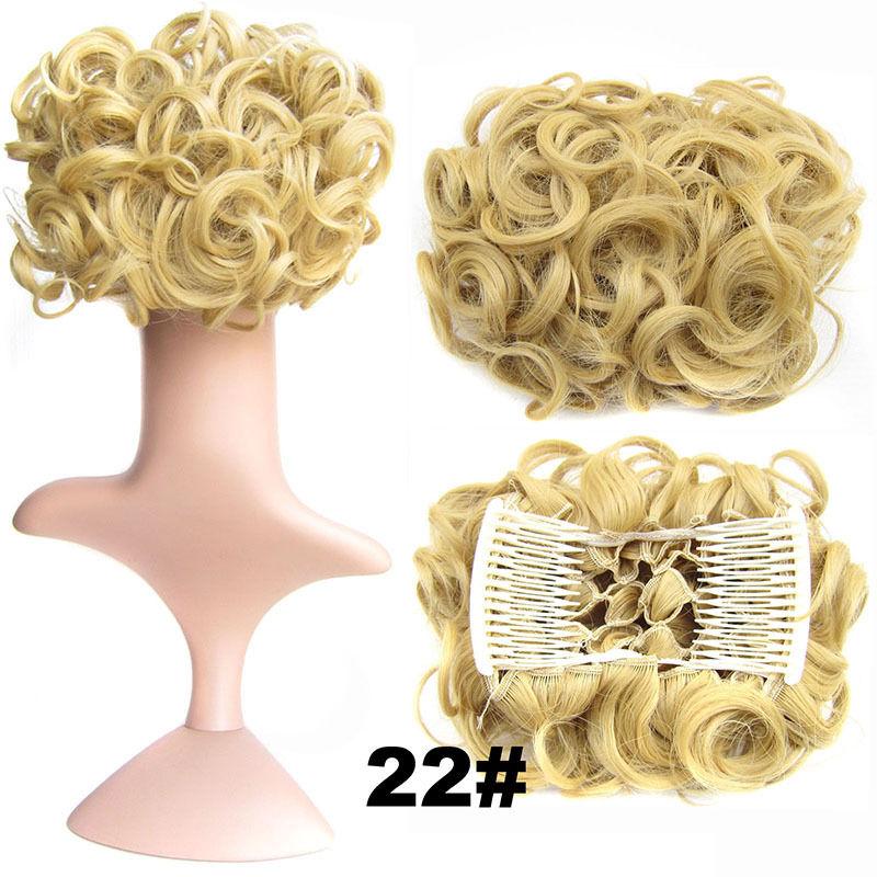 Clip In Hair Bun Chignon Piece Updo Cover Hair Extension Body Wavy For Women 4