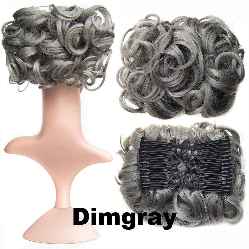 Clip In Hair Bun Chignon Piece Updo Cover Hair Extension Body Wavy For Women 8