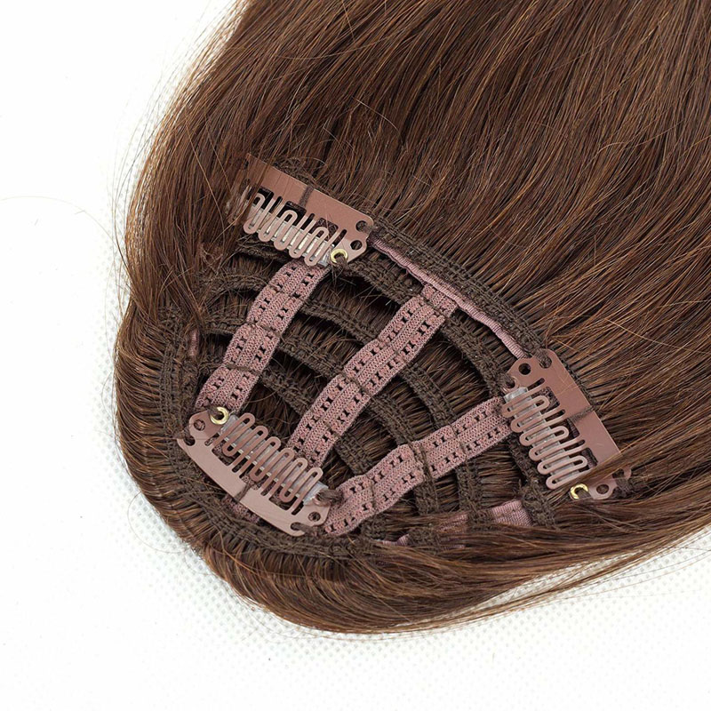 Clip In Human Hair Extensions Neat Bangs Oblique Fringe Remy Human Hairpiece 25g Or 50g 7
