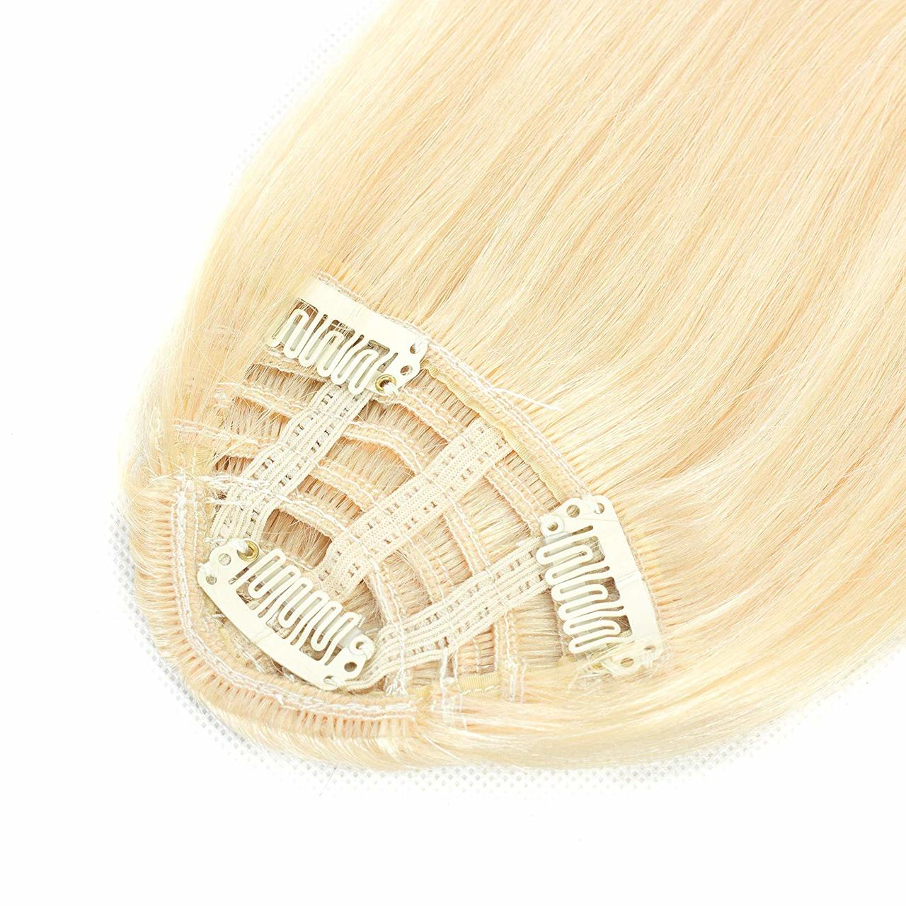 Clip In Human Hair Extensions Neat Bangs Oblique Fringe Remy Human Hairpiece 25g Or 50g 8