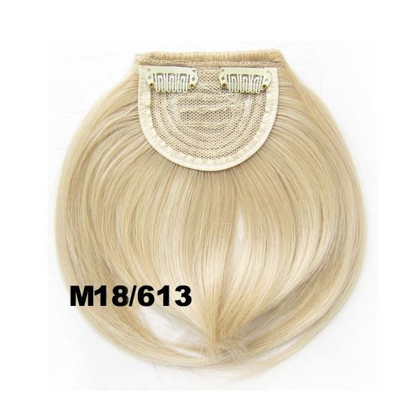 Clip In/On Neat Bangs Fringes With Temples Hair Extensions Straight 25