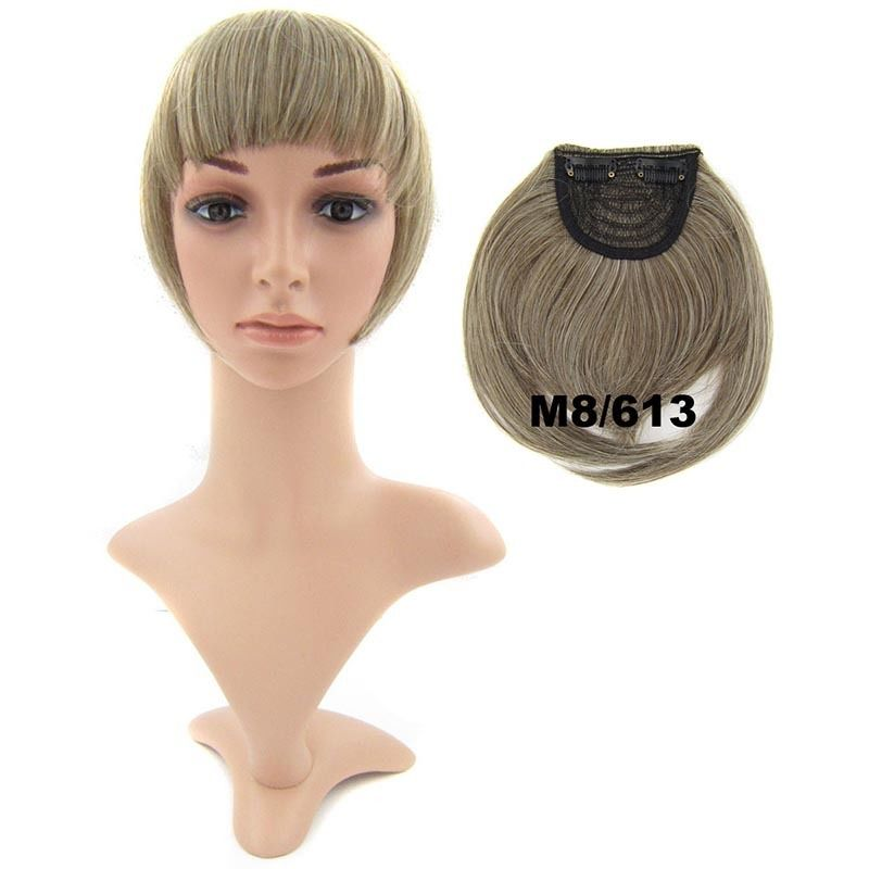 Clip In/On Neat Bangs Fringes With Temples Hair Extensions Straight 28