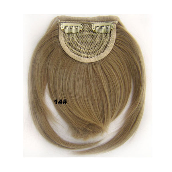 Clip In/On Neat Bangs Fringes With Temples Hair Extensions Straight 9
