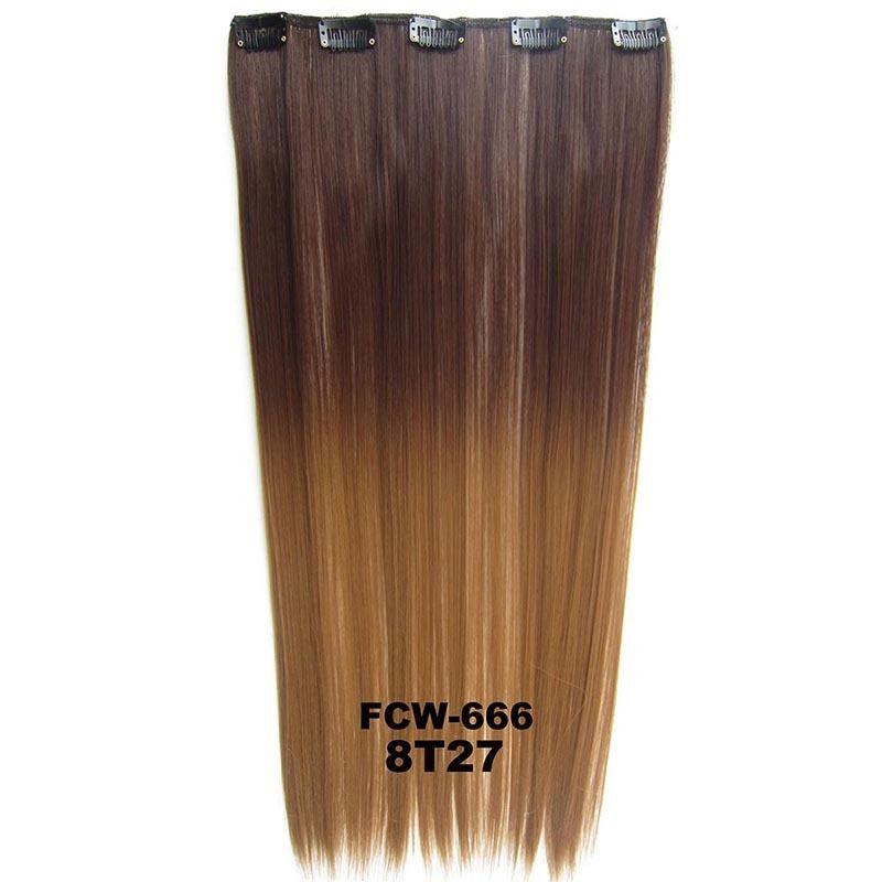 Clip Inon Synthetic Dip Dye Ombre Five Clips Hairpiece Hair