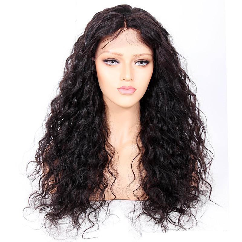 Curly Glueless Lace Front Wigs Brazilian Virgin Human Hair 0