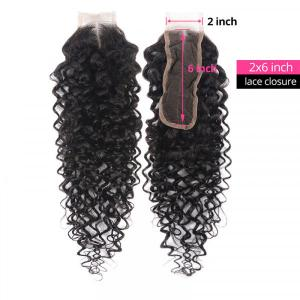Curly Human Hair Lace Closure 2x6 Inch High Quality Products For Curly Hair Closure