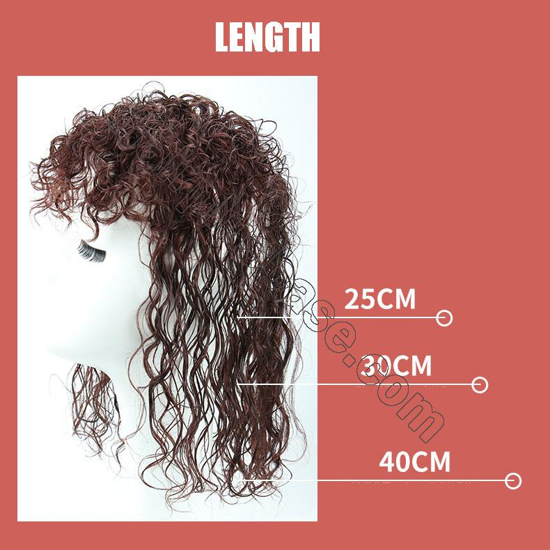 Curly Human Hair Topper Clip on Topper Wiglet for Women 5