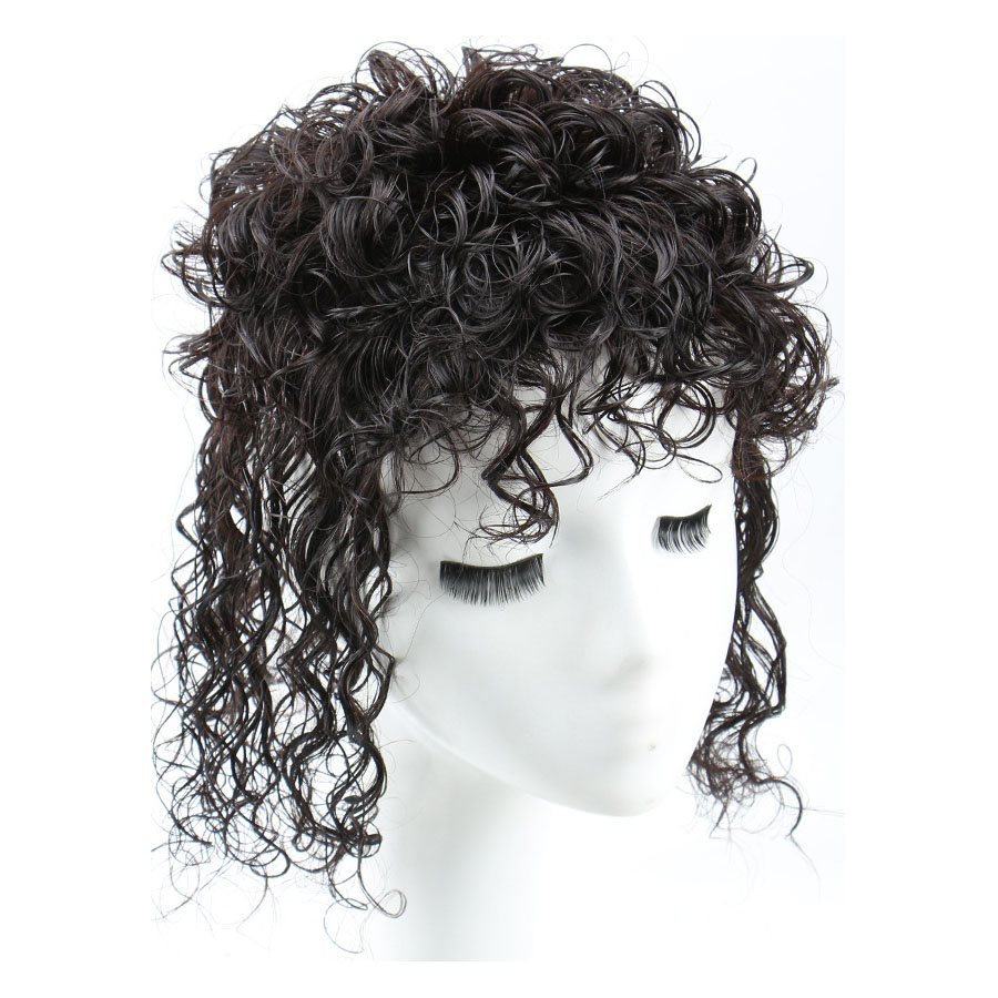 Curly Human Hair Topper Clip on Topper Wiglet for Women 9