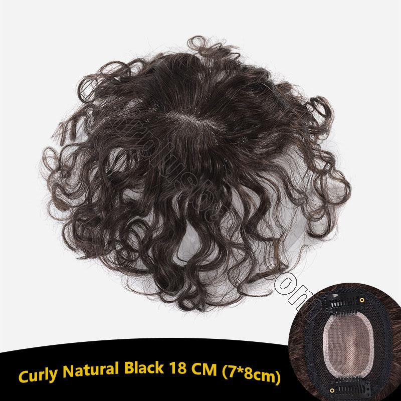 Curly Human Hair Toppers Clip in Topper Closure for Women Thin Hair 3