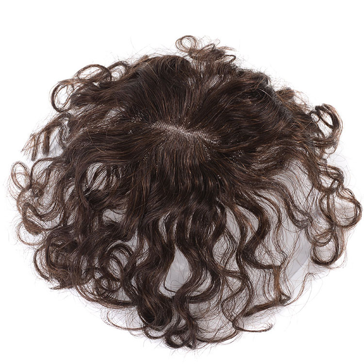 Curly Human Hair Toppers Clip in Topper Closure for Women Thin Hair 6
