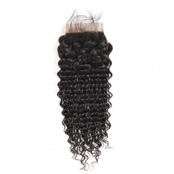Deep Wave Virgin Hair 5*5 Lace Closure Human Hair Closure 5