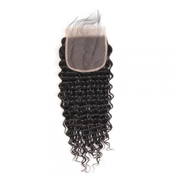 Deep Wave Virgin Hair 5*5 Lace Closure Human Hair Closure 6