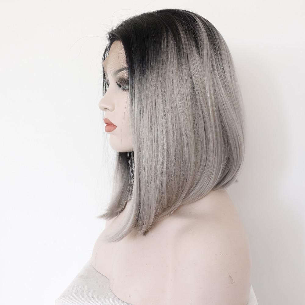 Fashion Medium Ombre Bob Lace Front Wig