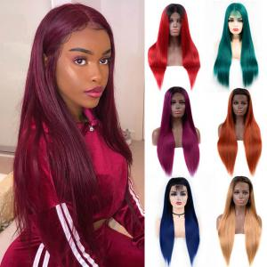 Five Colored Straight Lace Front Wigs With 130%-200% Density
