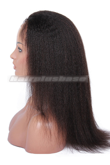 14 Inch Chinese Virgin Hair Italian Yaki Full Lace Wigs