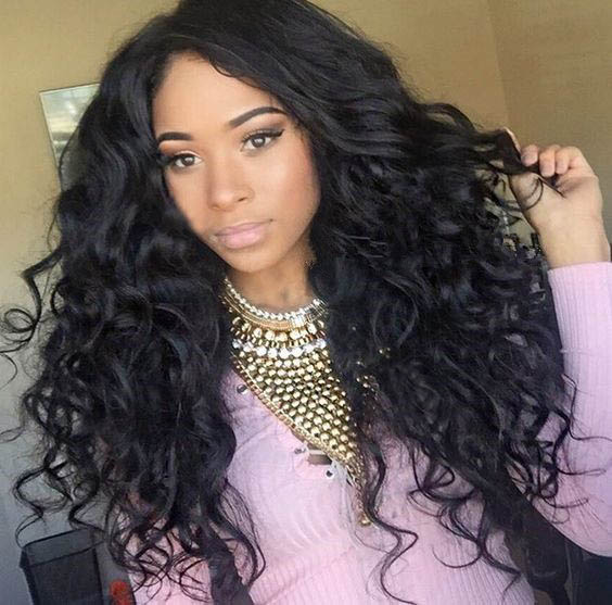 Full Lace Wigs Indian Remy Hair Loose Deep